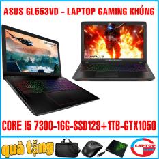 asus gl553vd – laptop gaming chơi game core i5 7300hq, ram 16g, ssd 128+1tb, vga gtx 1050