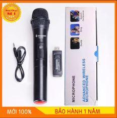 [GIAO NHANH 2 NGÀY] Micro Karaoke không dây đa năng cao cấp UHF V10 – dành cho loa kéo, loa bluetooth, amply hát karaoke zack cắm 3.5 – 6.5mm
