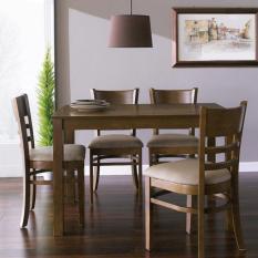 [Freeship] Bộ Bàn ăn 4 ghế Ulsan IBIE 1m2 gỗ cao su phong cách Bắc Âu Scandinavian theo lối sống tối giản, kích thước, màu sắc tùy chọn. Gia công tỉ mỉ, chất lượng xuất khẩu. Bảo hành 12 tháng, miễn phí vận chuyển TPHCM