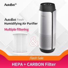 Máy Lọc Không Khí AutoBot, Máy Tạo Độ Ẩm Chức Năng Làm Sạch Không Khí 2 Trong 1 Thiết Bị Loại Bỏ Bụi PM2.5 Có Mùi Gia Dụng Ô Tô Bộ Lọc Hepa Đen + 1