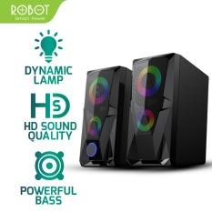 [Bảo Hành 12 Tháng] Loa vi tính Gaming ROBOT RS200 Thiết kế cho game thủ hiệu ứng đèn LED RGB chất âm HD chất lượng cao – Hàng Chính Hãng