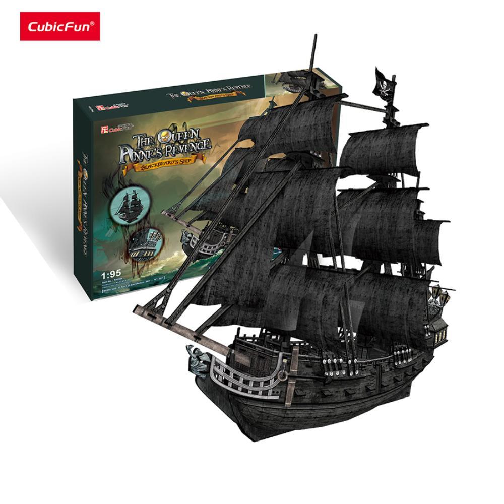 Mô hình giấy Cubic Fun Tàu Queen Anne's Revenge - T4018
