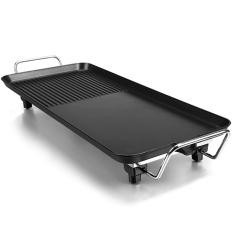 Bếp nướng điện không khói phong cách Hàn quốc 40x23cm, công suất lớn 1.350W, thích hợp 4-6 người ăn, lòng gang chống dính lau chùi dễ dàng.