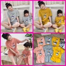 Lyvyshop – (Hàng cao cấp ) 01 bộ mẹ hoặc bé mặc nhà siêu dễ thương cho mùa hè tươi mát