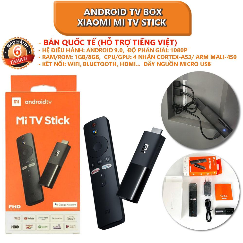 [Bản quốc tế] Android TV Box Xiaomi Mi TV Stick tìm kiếm bằng giọng nói, hỗ trợ tiếng việt -...