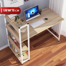 Bàn máy tính liền kệ sách. Bàn làm việc văn phòng để laptop, chơi game tiện dụng. ( KÈM ẢNH THẬT )