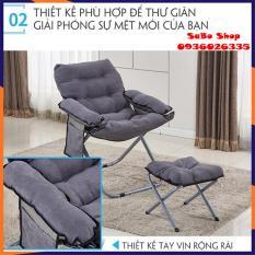 Ghế lười tựa lưng, ghế sofa gấp, Ghế sô pha lười,sofa,sô pha có thể gấp lại sô pha đa chức năng có thể gấp gọn, tặng kèm đôn