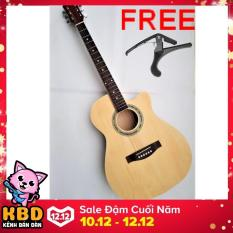 Guitar Acoustic KBD 9A29+ Tặng Capo guitar acoustic CP02