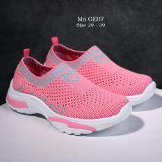 Giày len cho bé gái 4 – 15 tuổi cổ chun thể thao và cá tính GE07