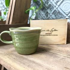 Ly uống trà men xanh ngọc bích