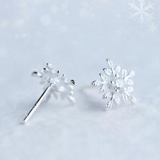 Bông tai bông tuyết thời trang trẻ trung bạc S925 Italy B2419 – Bảo Ngọc Jewelry