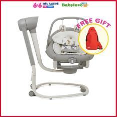 [HCM]Nôi trẻ em đưa Joie Serina 2in1 In the Rain cho bé từ sơ sinh 6 tốc độ đưa nôi 3 góc độ ngả lưng ghế 2 chế độ rung nhẹ kết hợp 5 âm thanh tự nhiên