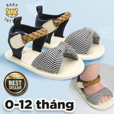 BABY TATTOO Dép sandal tập đi ĐẾ MỀM CHỐNG TRƯỢT cho bé gái 0-1 tuổi