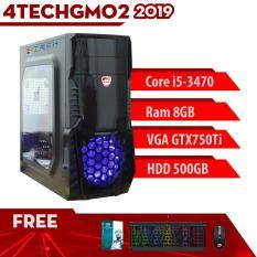 Máy Tính Chơi Game 4TechGM01 – 2019 Core i3-3220, Ram 4GB, HDD 500GB, VGA GTX750, Màn Hình LG 19.5 inch – Tặng Bộ Phím Chuột Gaming DareU.