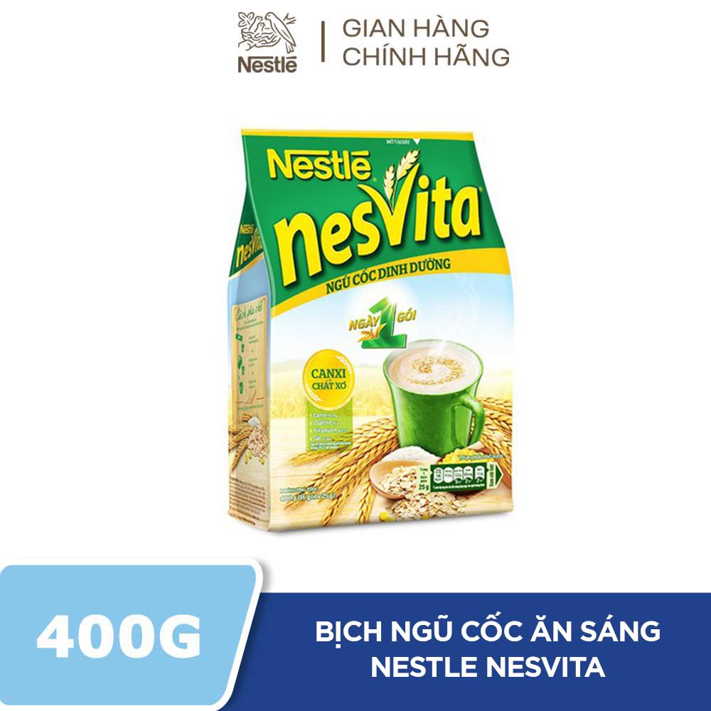 [TẶNG QUÀ 30K CHO ĐƠN TỪ 100K 19.01 – 28.01] Ngũ Cốc Dinh Dưỡng Nestlé Nesvita Ngày 1 Gói – Bịch 16 gói x 25g