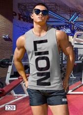 Áo Tập Gym Ba Lỗ Sát Nách Thể Thao Nam Nữ LION 220 BA LỖ THUN LẠNH TANKTOP 5 MÀU Cực Hot