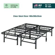 [FREESHIP ĐƠN 2TR5]Giường Sắt Xếp Thông Minh Zinus Smart Base 180x200x35cm