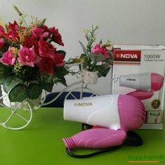 Máy sấy tóc Nova 1290 mini gấp gọn 1000W có 2 chế độ thích hợp để mang đi du lịch, máy sấy tóc mini công suất cực mạnh, máy sấy tóc du lịch, máy sấy tóc cao cấp, máy sấy tóc mini du lịch cực đẹp