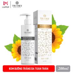Kem dưỡng trắng da toàn thân Truesky Premium dạng lotion thẩm thấu nhanh phiên bản cao cấp 200ml – Whitening Body Lotion