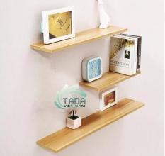 Kệ trang trí treo tường bằng gỗ combo 3 thanh 60cm x sâu 15 ( màu trắng , vàng , nâu, đen …)