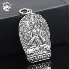 Mặt Dây Chuyền Bạc Thái Đại Thế Chí Hoa Mandala- Bạc Nam Dragon