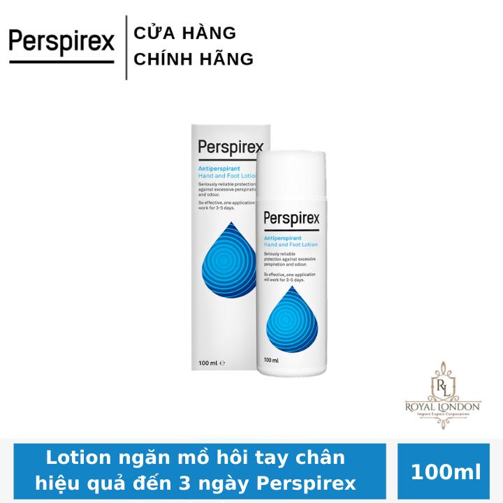 Lotion ngăn mồ hôi tay chân hiệu quả đến 3 ngày Perspirex Foot Lotion 100ml