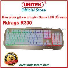 Bàn phím giả cơ chuyên game Rdrags R300 Led 7 màu