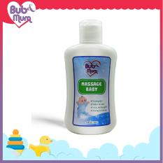 Dầu Massage cho bé 100ml BuB&MuM chiết xuất tinh dầu thiên nhiên giúp giữ ấm và giữ da bé mềm mại