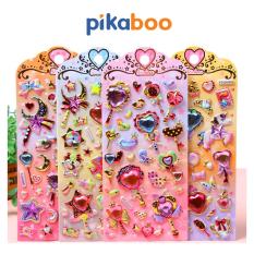 Đồ Chơi Cho Bé Miếng Dán Sticker 3D Pikaboo, Kích Thước 20.5*9cm, Chất Liệu PVC Không Thấm Nước Thích Hợp Trang Trí Đồ Dùng Học Tập, Va Li, Tủ Lạnh, Tủ Đồ, Tủ Quần Áo…