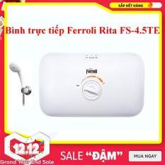Máy nước nóng trực tiếp không bơm chống giật Ferroli Rita FS-4.5TE (4500w ) trắng – Chất Lượng Cao