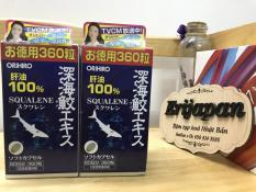 360 viên [DATE 2021] Dầu gan cá mập Orihiro – Dầu gan cá mập 100% Squalene Orihiro Nhật Bản