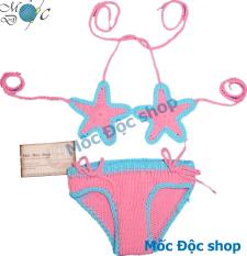 Bikini len ngôi sao hồng cho bé gái 3-20 kg