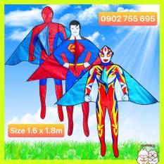 {MUA 1 ĐƯỢC 2} DIỀU SIÊU NHÂN NGƯỜI NHỆN, SUPERMAN – TẶNG TAY CẦM THẢ DIỀU DÀI 150 MÉT + TÚI VẢI ĐỰNG DIỀU NHÀ MAY