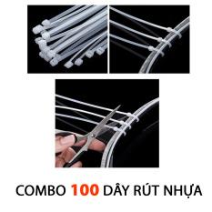 [HCM]Combo 100 Dây Rút Nhựa Siêu Chắc Giá Rẻ