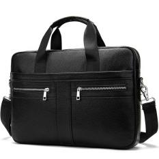Túi xách cặp da bò đựng laptop 14 inch công sở T13 39x27x7cm (Nâu-Đen-Xám Xanh-Xám)