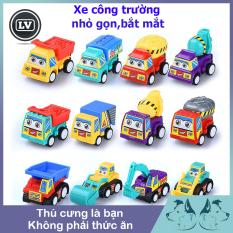 Xe công trường đồ chơi mini cho bé Phụ Kiện Long Vũ