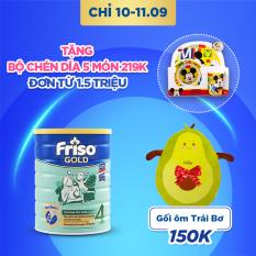 [Freeship toàn quốc] Sữa bột Friso Gold 4 1.5kg cho trẻ từ 2-4 tuổi – Tặng Gối ôm Trái Bơ trị giá 150K