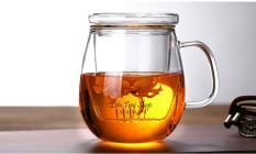 Ly pha trà thuỷ tinh chịu nhiệt ba mảnh cốc pha trà ly văn phòng 500ml