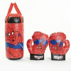[HÀNG CÓ SẴN]-Bộ dụng cụ tập Boxing trẻ em kèm 2 găng tay cho bé- Bộ đấm bốc trẻ em kèm găng tay+ Tặng kèm hình dán