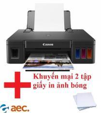 Máy in phun màu Canon G1010 ( đã bao gồm 4 chai mực Hàn Quốc ) tặng 2 tập giấy in ảnh bóng chuyên dụng cho máy in màu