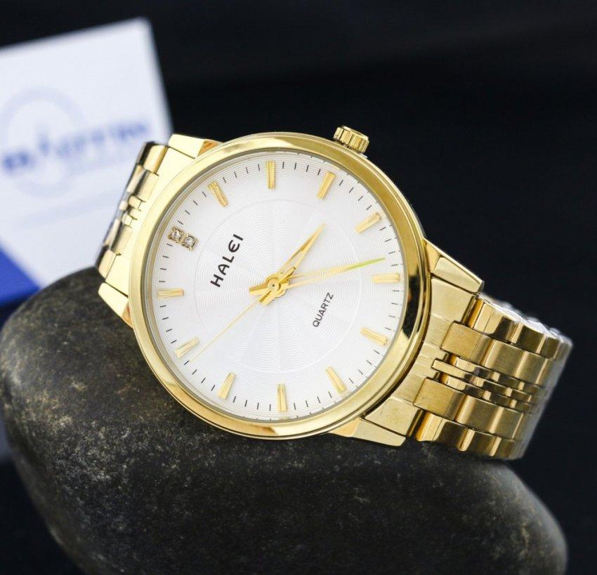 Đánh Giá Đồng hồ nam dây thép không gỉ Halei chống nước DHL10042
