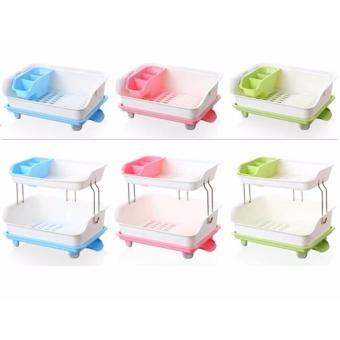 Đồ dùng tiện ích - Phụ kiện tủ bếp SANG TRỌNG - TiỆN LỢI - Giá úp bát đĩa Nhựa PP 2 tầng Bền đẹp nhất - Làm tủ đựng đồ bằng thùng giấy