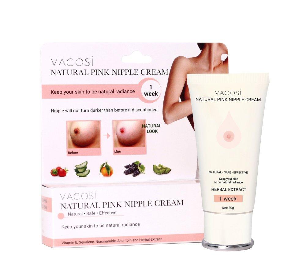 Kem làm hồng nhũ hoa Vacosi Natural Pink Nipple Cream 30ml (Hàng Chính Hãng)
