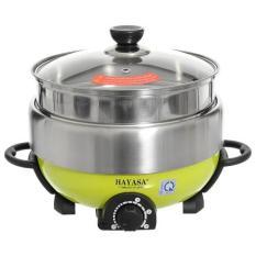 Lẩu điện nướng hấp đa năng cao cấp 5 lít Hayasa Ha-68 – Hãng phân phối chính thức