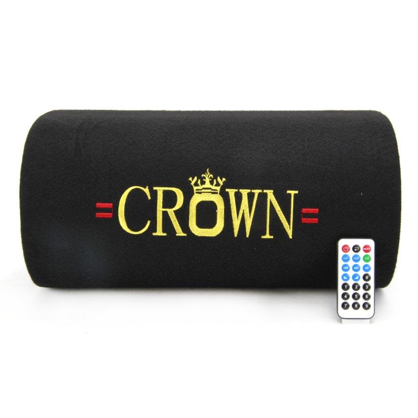 Loa Crown cỡ số 6 kiểu bẹt (Đen)