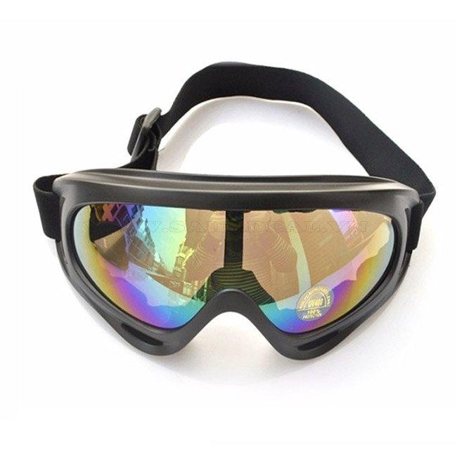 Mắt Kính để Đi Phượt chống bụi và tia UV tráng bạc 7 màu