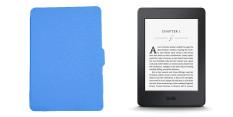 Máy đọc sách Kindle Paperwhite 2015 (Đen) + bao da (Xanh ngọc)
