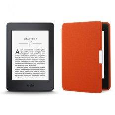 Máy đọc sách Kindle Paperwhite 2017 và Bao da (Cam)