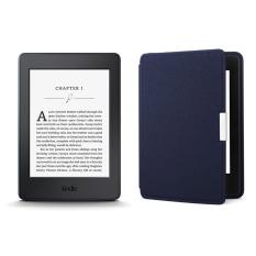 Giá Tốt Máy Đọc Sách Kindle PaperWhite 2017 và Bao da (Xanh Đậm Inox) Tại MayDocSach