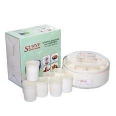 Máy làm sữa chua Gia Đình Sunny 8 cốc (Trắng)